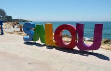 Salou instal·la un altre grup de lletres amb el nom del municipi al carrer Colom