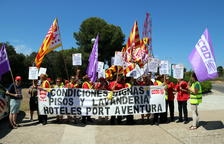 El personal de neteja de PortAventura denuncia l'acomiadament d'una treballadora després de les protestes