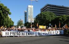 110.000 persones a la marxa per la llibertat dels presos, segons la Guàrdia Urbana, 200.000 segons l'organització