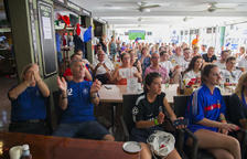 Els francesos celebren la Copa del Món a Salou