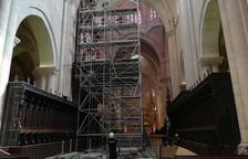 Es culmina la bastida per posar les sargues de l'orgue de la Catedral