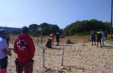 Descubierta a la playa Llarga de Tarragona una bomba de mortero antigua
