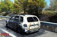 Crema un vehicle a l'AP-7 a Vandellòs