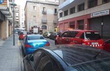 Se hunde parte del techo de un piso en Tarragona