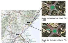 Cinc noves glorietes evitaran girs a l'esquerra a l'N-340 entre Alcanar i l'Hospitalet de l'Infant