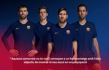 El Barça canvia d'escut: sense lletres i més pilota