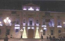 Cinc arbres de Nadal cònics, novetat de les llums nadalenques d'enguany a Tarragona