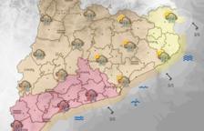 La pluja arriba amb força per les Terres de l'Ebre