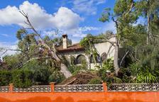 Un tornado arrenca pins i afecta greument cases i vehicles als Pallaresos