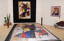 Les obres a l'Església Vella embruten el tapís original de Miró-Royo