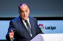 Tebas, sobre el Levante-Zaragoza: «Penso que hi haurà condemnes i crec que la nul·litat no va enlloc»