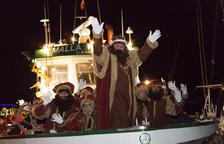 Los tres Reyes de Oriente navegan rumbo a Cambrils
