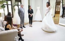 Un vestit de núvia rosa de 1.790 euros, l'elecció d'una tarragonina a '¡Sí, quiero este vestido!'