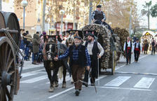 Vila-seca es vesteix de gala per la festa del seu patró amb els Tres Tombs