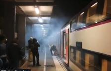 Alarma por el humo provocado por el frenazo de un tren en Segur de Calafell