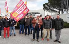 Protesta sindical en la incineradora de Sarpi en el polígono de Constantí