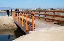 El primer tram del camí de guarda costanera al Delta permet ja l'accés a la torre de Sant Joan