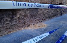 Imagen del desprendimiento que ha sufrido la Torre del Pretorio.
