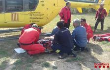 Rescatan a un escalador herido en la 'Cova de la finestra' en Margalef
