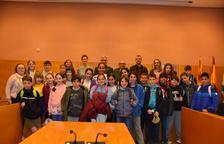 Alumnes anglesos visiten l'Ajuntament de Torredembarra i el Patronat Antoni Roig