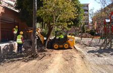 En marxa les obres de remodelació del parc d'Àngel Guimerà
