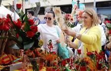 Los catalanes comprarán 7 millones de rosas y 1,5 millones de libros por Sant Jordi