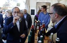 Quim Torra inaugura la Fira del Vi de Falset, que enguany bat el rècord de cellers participants