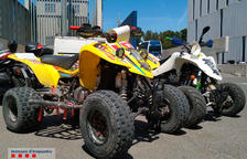 Detinguts dos homes a Tarragona que reparaven quads i motos amb peces robades