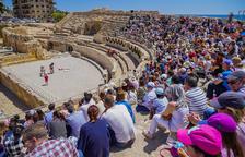 Els gladiadors porten centenars de persones a l'Amfiteatre de Tarraco