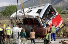 Cierran provisionalmente el caso del accidente de autobús en Freginals