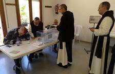 Els monjos de Poblet també participen de les eleccions