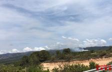 Controlat l'incendi forestal de Tivissa que ha cremat 1,4 hectàrees