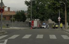 Un conductor xoca amb el cotxe contra un fanal a l'Arboç
