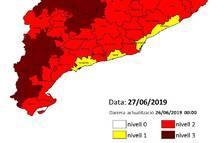 El risc d'incendis obliga a tancar divendres els accessos al Montsant i als Ports de Tortosa