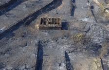 L'incendi de la Ribera d'Ebre, a vista de dron
