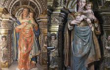 Restauren una verge amb el pit nu del retaule del Monestir de Santes Creus