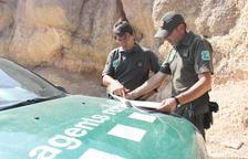 Los agentes rurales reabren los accesos a los macizos del sur de Tarragona