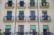 Un edifici de la Rambla és el primer en adherir-se a la proposta Flors als Balcons