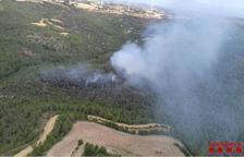 Un incendi crema prop de 4 hectàrees de vegetació forestal a Conesa