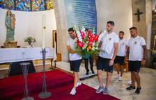 El Nàstic continua amb la tradició de les visites a l'ermita del Loreto a i la capella de Sant Magí
