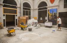 El patio del pozo del Palau Municipal de Tarragona se queda sin pozo