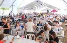 Més de 1.500 persones participen a la 28a Paella Popular de La Pobla
