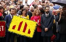 Dos identificats per entorpir l'ofrena floral del Govern a Rafael Casanova amb l'himne d'Espanya