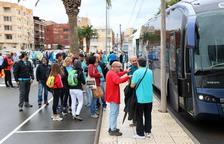 Surten d'Amposta cinc autocars cap a la manifestació de la Diada de Barcelona