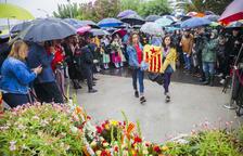 Puig apel·la al «sacrifici» dels presos en una Diada marcada per la pluja