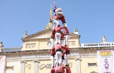 Cop d'efecte de la Vella de Valls a Santa Tecla descarregant el dos de vuit i el quatre de nou nets
