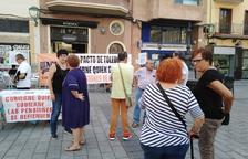 La Marea torna a la plaça Corsini de Tarragona per reclamar pensions més dignes