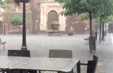 Una tempesta de calamarsa cau a Prades
