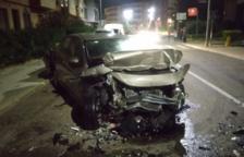 S'estampa contra tres vehicles mentre circulava per un carrer de Montblanc