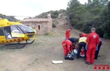 Rescaten un ciclista accidentat a Vimbodí
